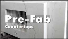 Pre-fabricated countertops from DKBC