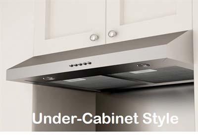 DKBC under-cabinet range hoods