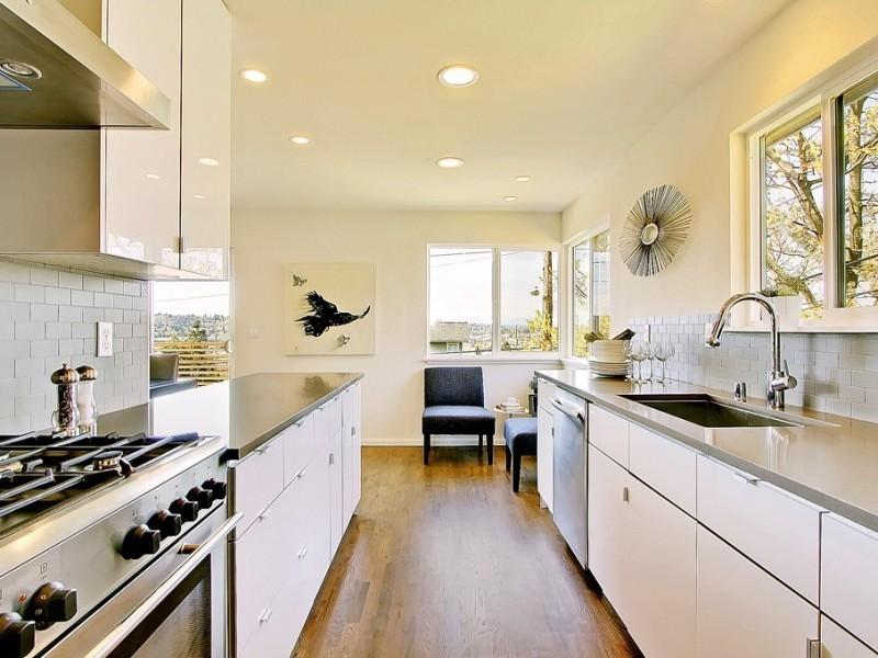 White Acrylic Kitchen Cabinets W30 | Discount Kitchen ...