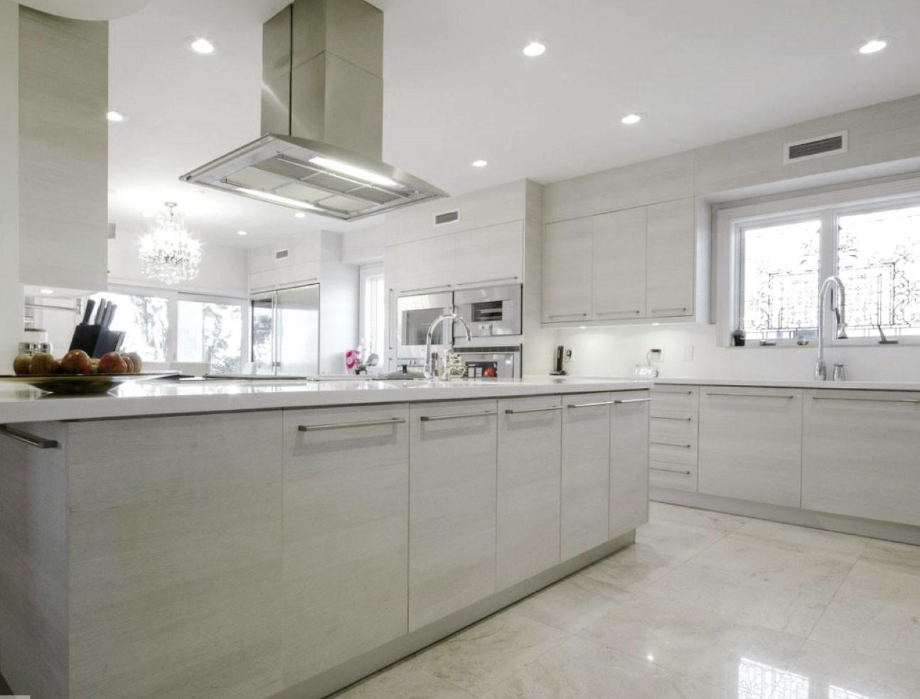 White Hill Oak Textured Kitchen Cabinets W09 Discount
