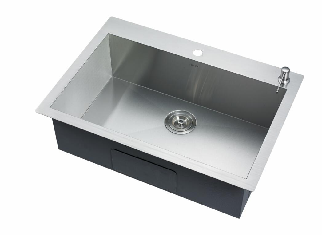 """30""""x21"""" Zero Radius 16 Ga Single Top-mount Kitchen Sink ..."""